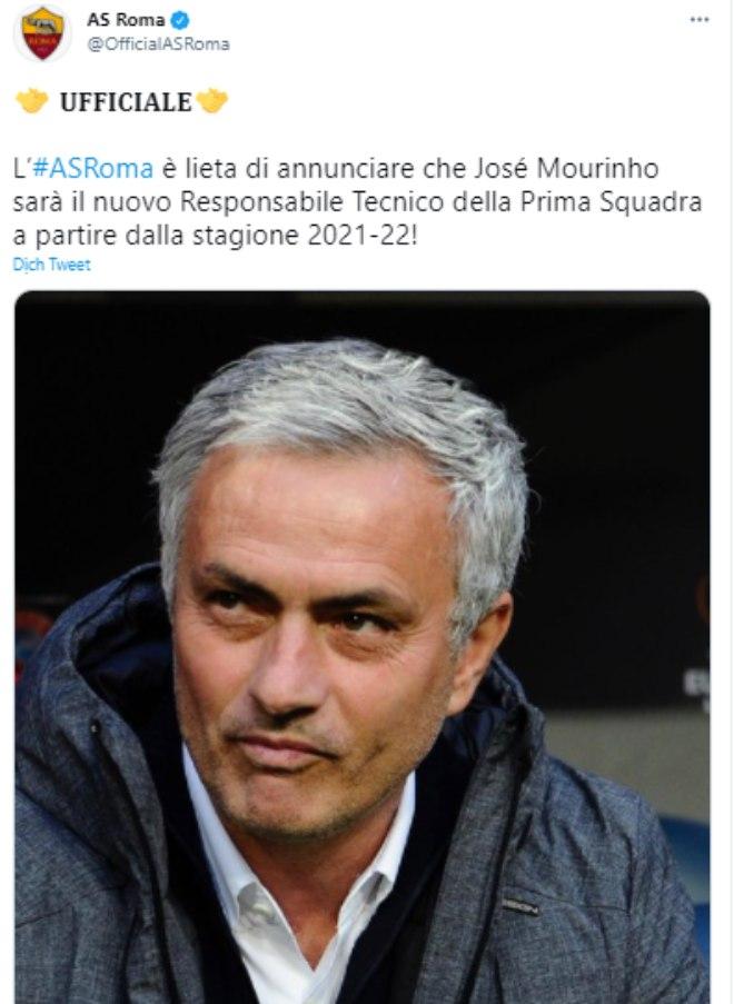 NoNG AS Roma doi thu cua MU o Europa League bo nhiem Mourinho 2021 05 04 20 22 43 1620134601 813 width660height903