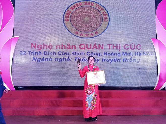 Nghệ nhân Quản Thị Cúc - người giữ lửa nghề thêu tay truyền thống - 3
