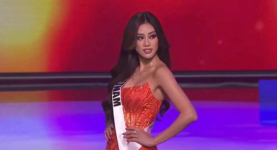 Khánh Vân diện bikini khoe hình thể tại bán kết Miss Universe - 6