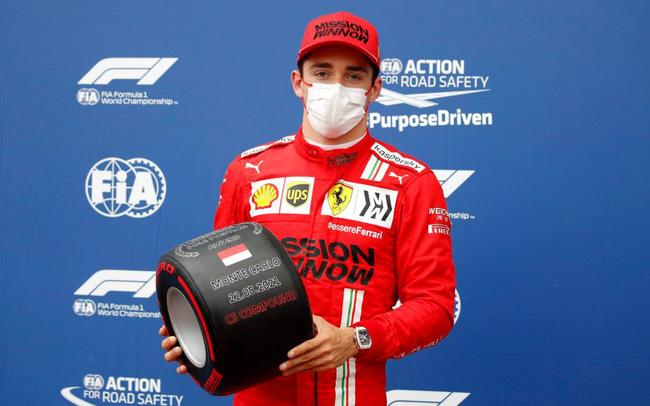 """Đua xe F1, phân hạng Monaco GP: Ferrari """"lột xác"""", Leclerc gặp tai nạn vẫn đoạt pole - 1"""