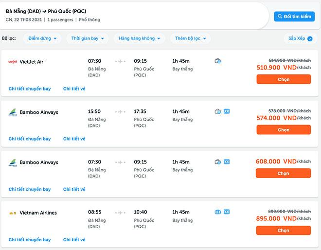 Những lưu ý khi săn vé máy bay Đà Nẵng đi Phú Quốc - 2