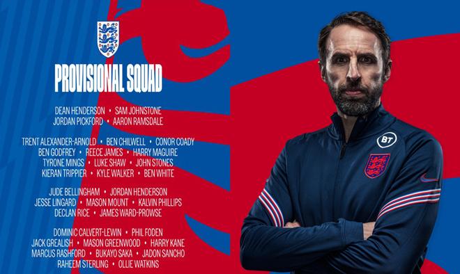 Danh sách sơ bộ ĐT Anh dự EURO 2021: MU áp đảo, Greenwood trở lại - 1
