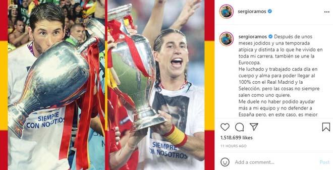 """Ramos thất vọng vì không được dự EURO, báo Tây Ban Nha """"vạch mặt"""" HLV Enrique - 1"""