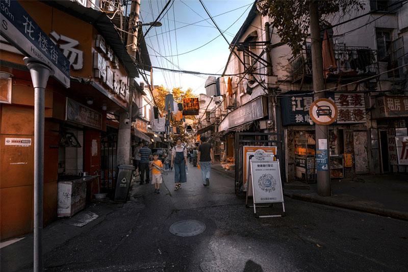 Con phố cổ giữa trung tâm Vũ Hán, khung cảnh bình dị hiếm hoi còn sót lại - hình ảnh 1