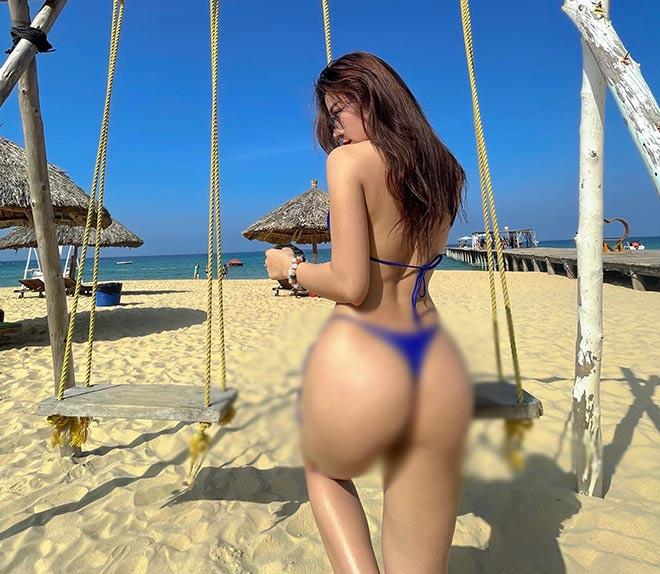 """""""Hot girl phòng Gym"""" Huyền Dior, Quỳnh Nguyễn vòng ba 100 cm đọ dáng ở bể bơi - 8"""