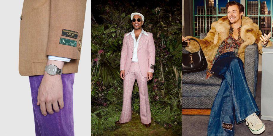 Gucci biến lỗi thời trang kinh điển thành kiểu mốt hot cho nam giới - hình ảnh 2