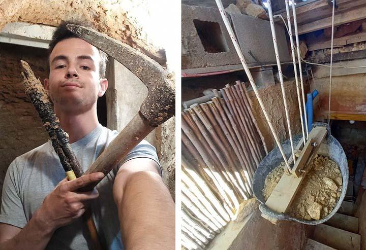 Cãi nhau với bố mẹ, cậu bé ra vườn đào hang trốn và tạo ra một công trình ấn tượng - hình ảnh 1