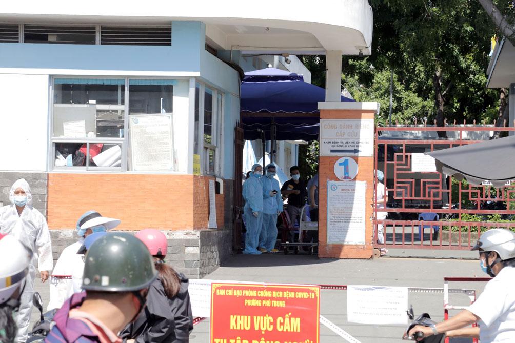 TP.HCM: Phong tỏa bệnh viện quận Tân Phú - hình ảnh 1