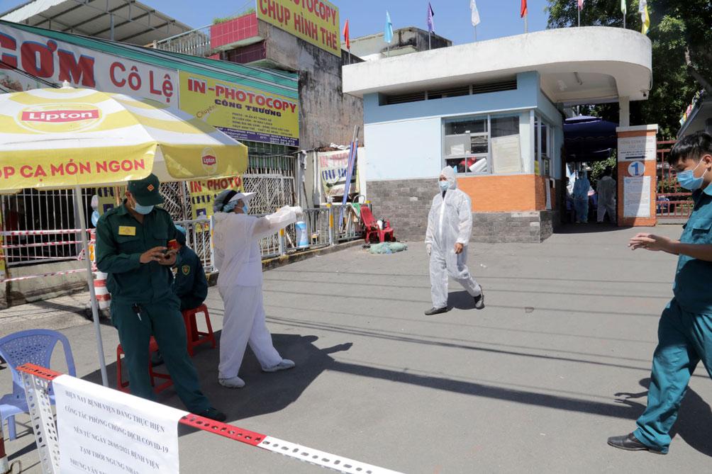 TP.HCM: Phong tỏa bệnh viện quận Tân Phú - hình ảnh 4