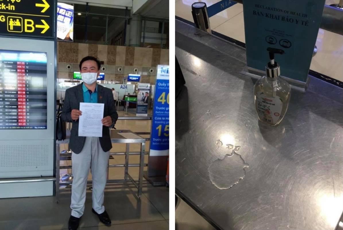 Cảng vụ Hàng không lên tiếng trước thông tin nước rửa tay sát khuẩn tại sân bay Nội Bài là nước lã - hình ảnh 1