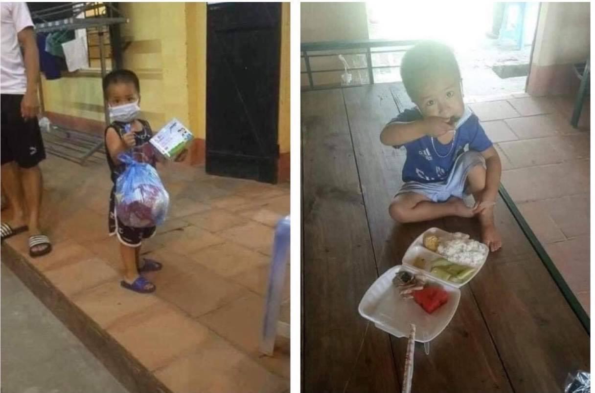 Sự thật chuyện bố mẹ mắc COVID-19, bé trai 3 tuổi đi cách ly một mình, tự ăn uống - hình ảnh 1