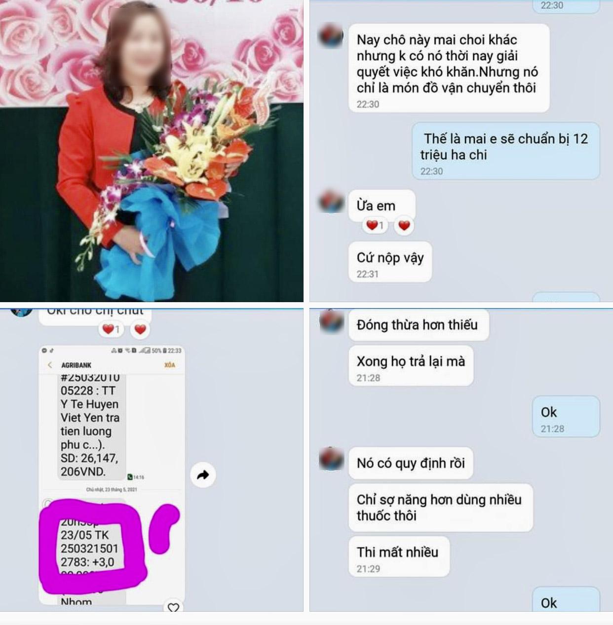 """Bắc Giang: Công an đã làm việc với nữ nhân viên y tế """"vòi tiền"""" người nhà bệnh nhân COVID-19 - hình ảnh 1"""