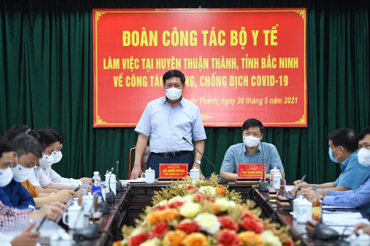 Thứ trưởng Bộ Y tế Đỗ Xuân Tuyên: 5 lưu ý để dập dịch ở Bắc Ninh - hình ảnh 1