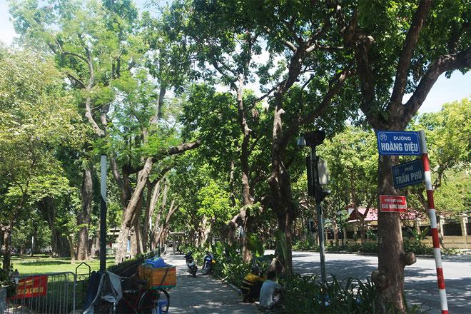 Đường phố Hà Nội vắng người vì trời nóng như đổ lửa - hình ảnh 12