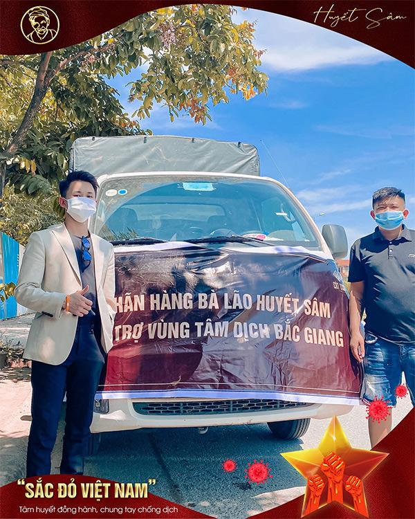 """Bà Lão Huyết Sâm phát động chương trình """"Sắc đỏ Việt Nam"""" ủng hộ Bắc Giang chống dịch Covid-19 - 1"""