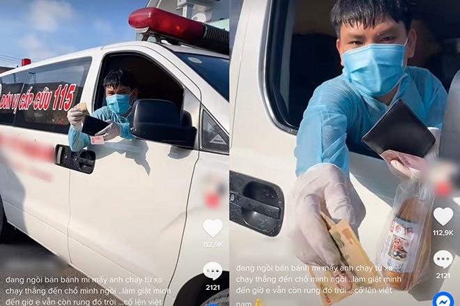 Chủ quán giật thót vì xe cứu thương đỗ ngay trước cửa, việc làm sau đó khiến ai cũng xúc động - hình ảnh 1