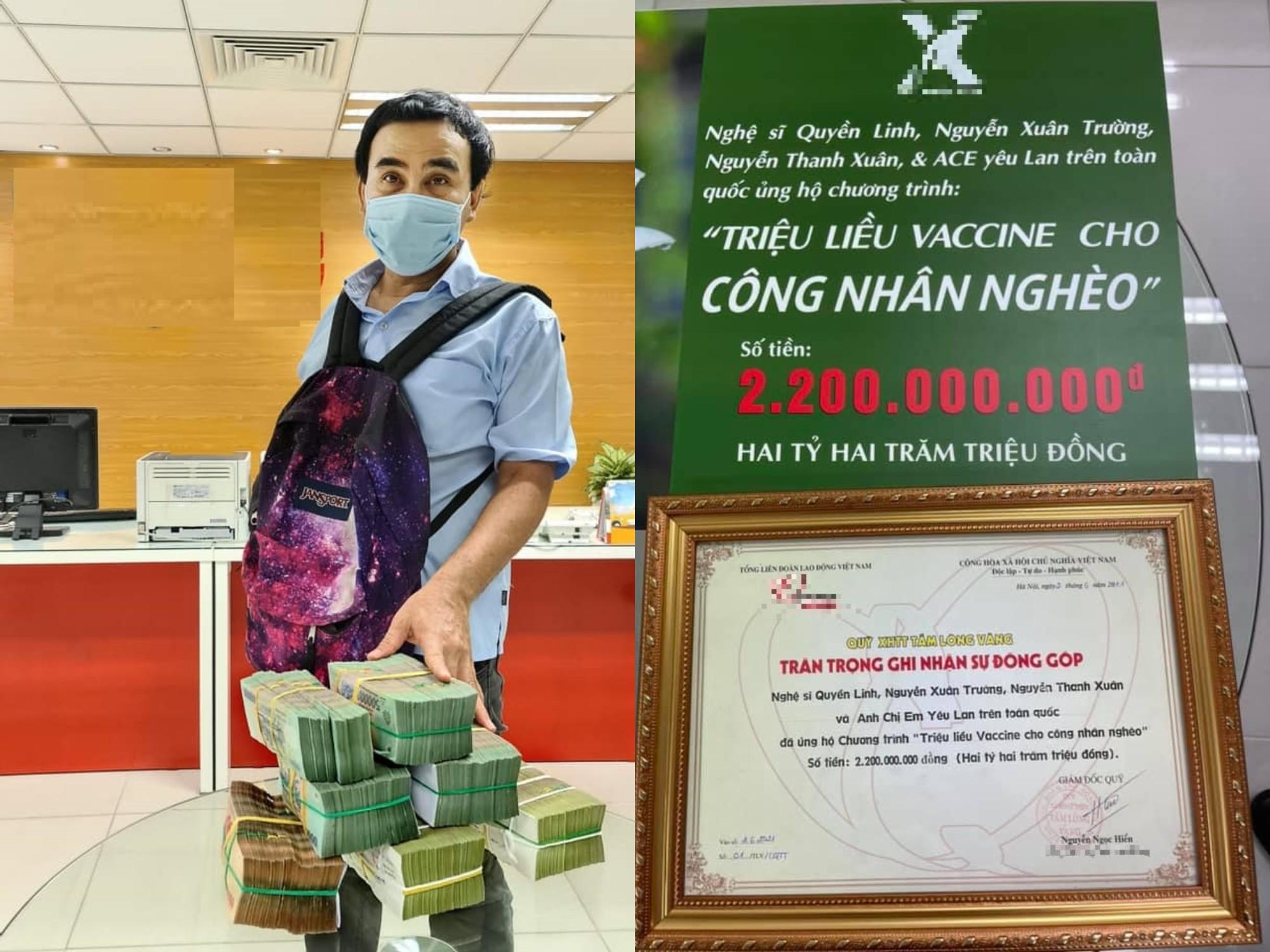Ủng hộ MC Quyền Linh góp hơn 2 tỷ chống dịch, NS Hồng Vân và Vân Dung bị chất vấn kém duyên - hình ảnh 1
