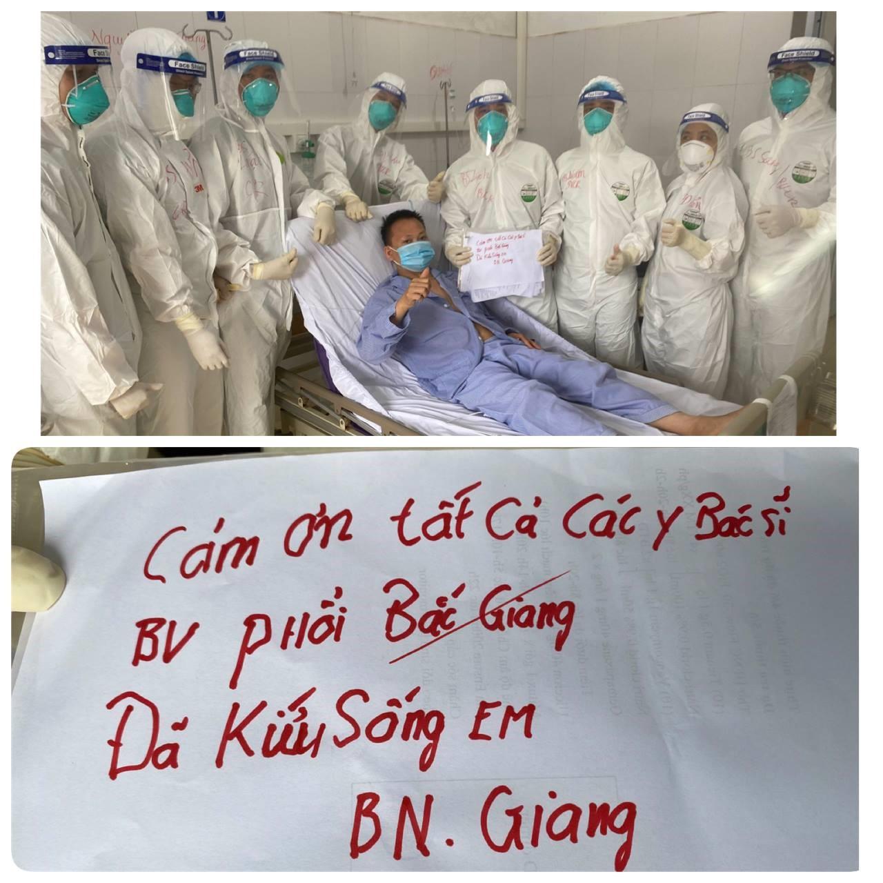 Nam thanh niên mắc COVID-19 ở Bắc Giang từng nguy kịch đã được cai máy thở - hình ảnh 1