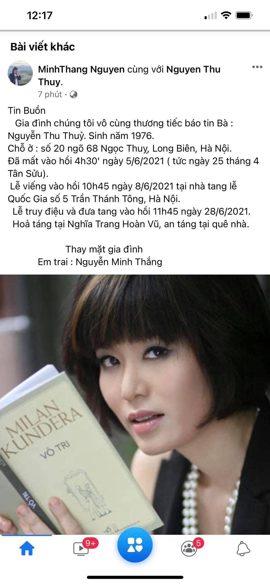 Hoa hậu VN Nguyễn Thu Thủy qua đời do đột quỵ khiến showbiz Việt bàng hoàng - 2