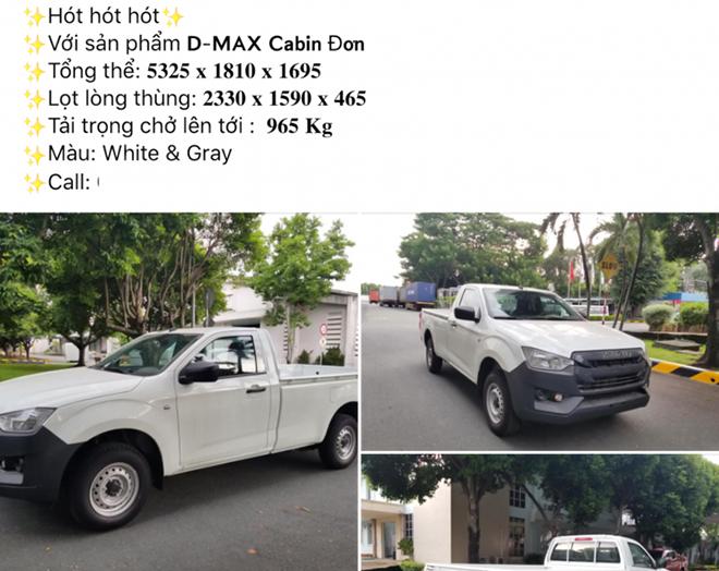 Isuzu D-Max bản cabin đơn có mặt tại Việt Nam, giá gần 400 triệu đồng - 4