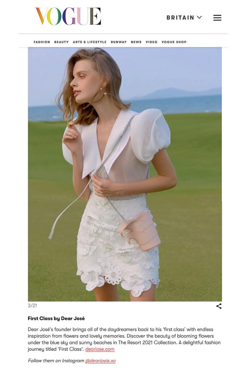 Trang phục của NTK Việt bất ngờ xuất hiện trên Vogue Anh - hình ảnh 1