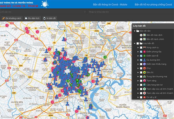 Xem trực tuyến tình hình dịch COVID-19 tại TP.HCM bằng bản đồ - hình ảnh 1