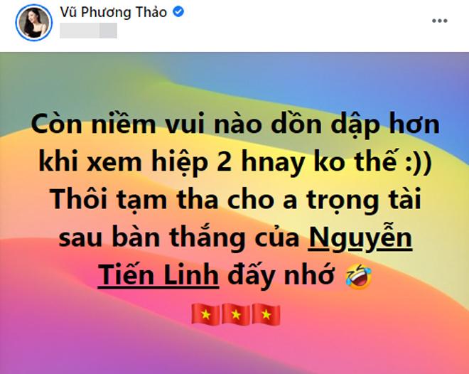 Tiến Linh ghi bàn, nữ MC xinh đẹp trẻ tuổi nhất VTV lập tức đáp lời - hình ảnh 2