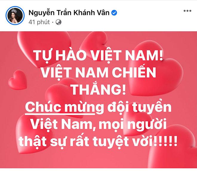 Hoa hậu Khánh Vân cùng dàn người đẹp phấn khích khi ĐT Việt Nam thắng lớn - 3