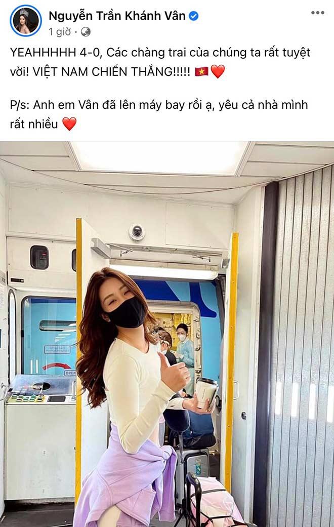 Hoa hậu Khánh Vân cùng dàn người đẹp phấn khích khi ĐT Việt Nam thắng lớn - 4