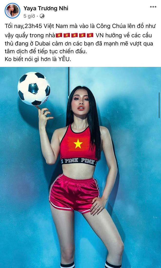 Hoa hậu Khánh Vân cùng dàn người đẹp phấn khích khi ĐT Việt Nam thắng lớn - 5