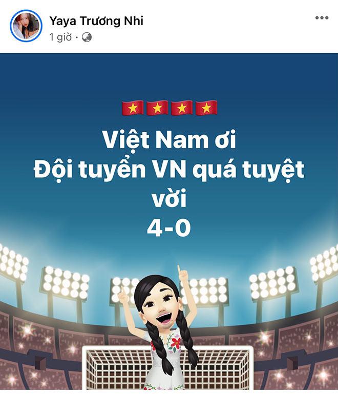 Hoa hậu Khánh Vân cùng dàn người đẹp phấn khích khi ĐT Việt Nam thắng lớn - 6