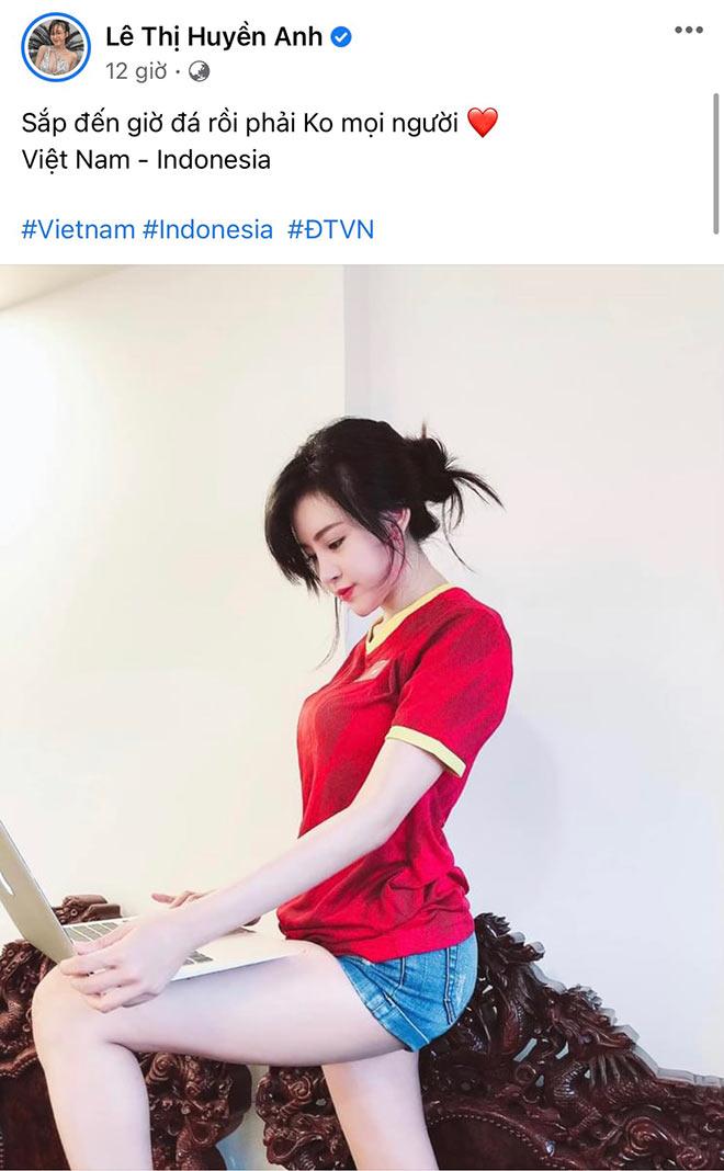 Hoa hậu Khánh Vân cùng dàn người đẹp phấn khích khi ĐT Việt Nam thắng lớn - 7