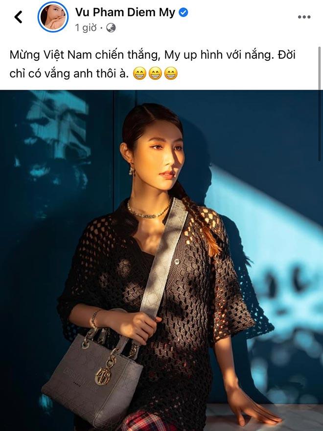 Hoa hậu Khánh Vân cùng dàn người đẹp phấn khích khi ĐT Việt Nam thắng lớn - 10