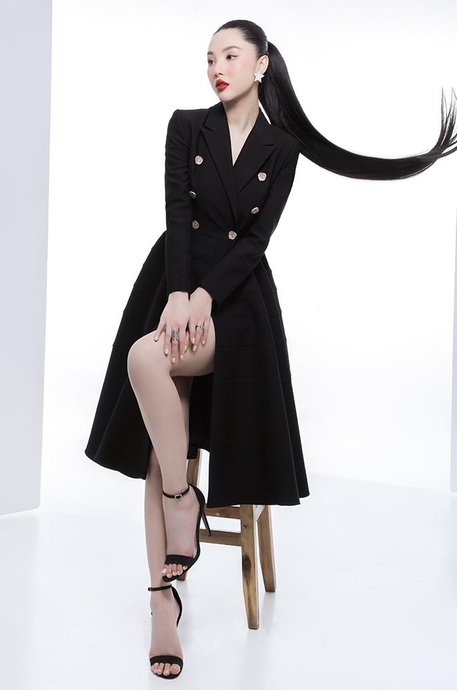 """Hoa hậu quốc tế Mỹ Huyền lúc sexy """"gây mê hoặc"""", khi e ấp tựa nàng thơ - hình ảnh 10"""