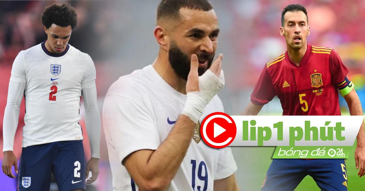 """ĐT Anh - Pháp lo """"bão"""" chấn thương, Tây Ban Nha gặp ác mộng Covid-19 (Clip 1 phút Bóng đá 24H)"""