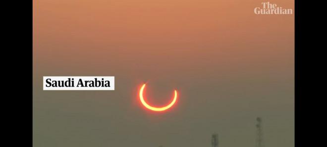 """Chiêm ngưỡng nhật thực """"vòng lửa Bắc Cực"""" xuất hiện khắp thế giới - 3"""