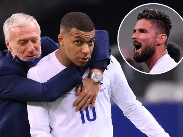 """Mbappe điên máu vì bị Giroud gây hấn, ĐT Pháp nổi """"sóng ngầm"""" trước EURO - 1"""
