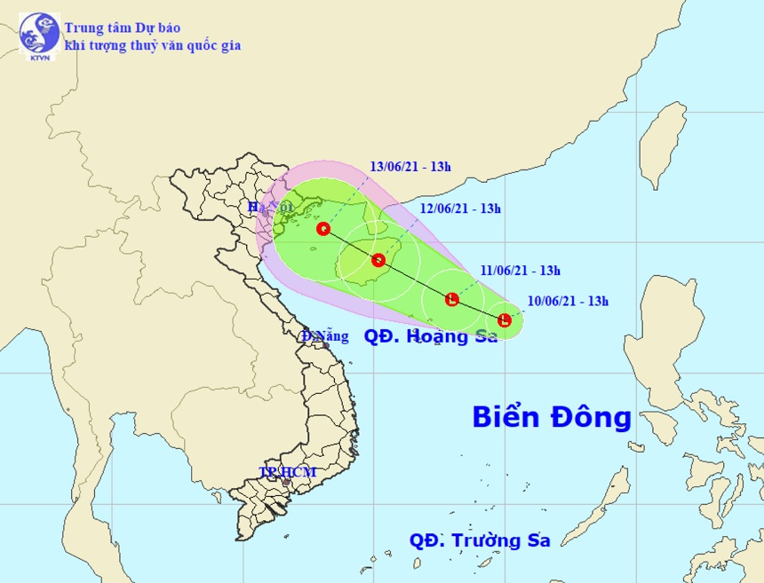 Xuất hiện vùng áp thấp trên Biển Đông, khả năng còn mạnh thêm - hình ảnh 1