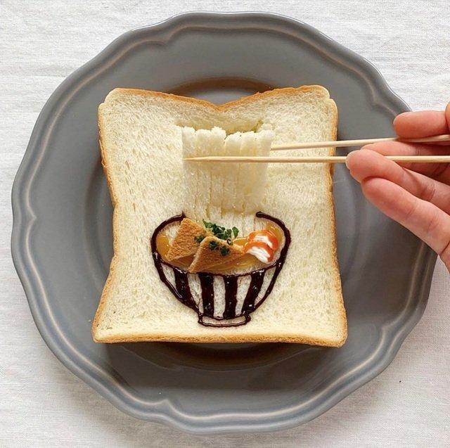 Xuýt xoa những lát bánh mì sandwich đẹp như tranh của cô gái Nhật Bản - 6