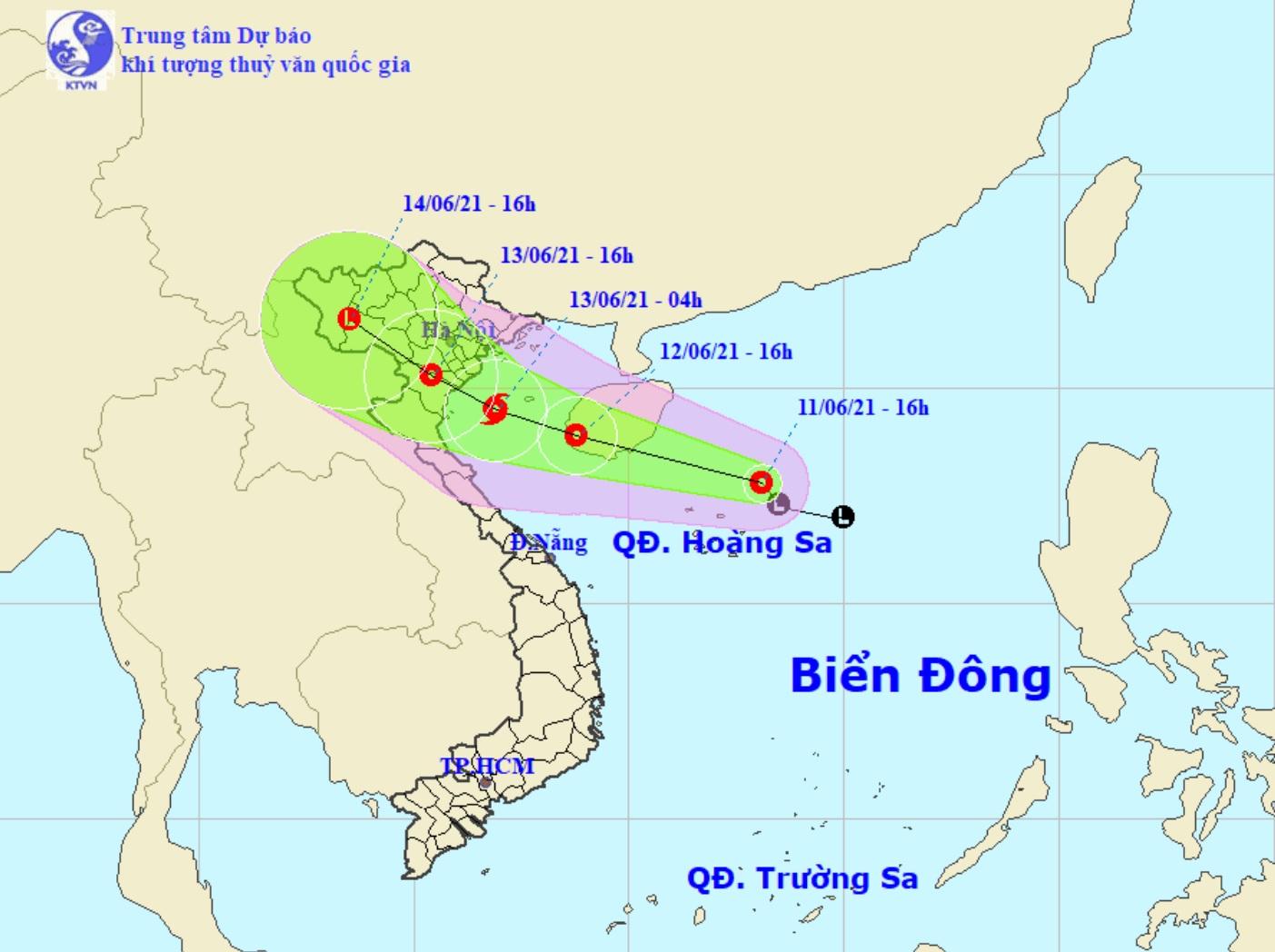 Áp thấp nhiệt đới khả năng mạnh thành bão, hướng vào Bắc Bộ và Bắc Trung Bộ - hình ảnh 1