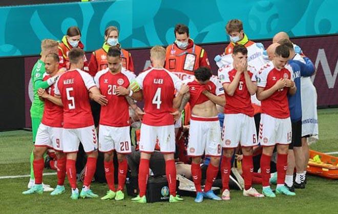 Bi kịch EURO: Eriksen (Đan Mạch) đổ gục trên sân, nguy hiểm đến tính mạng - 3
