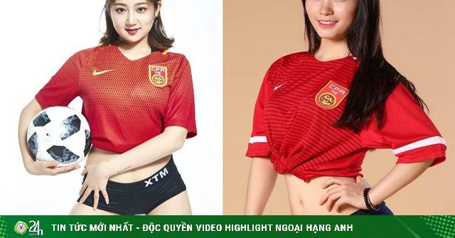 Hot girl Trung Quốc khoe ảnh xinh đẹp cổ vũ đội nhà lọt vào vòng bảng 3 World Cup