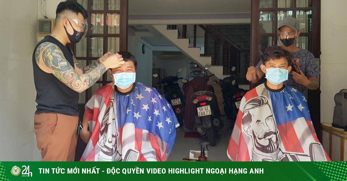 Nở rộ dịch vụ cắt tóc, làm đẹp tại gia mùa Covid-19