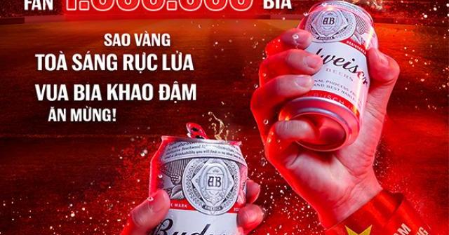 Gửi 1.000.000 lon bia tới fan, Budweiser ăn mừng Việt Nam lọt vòng loại cuối World Cup 2022