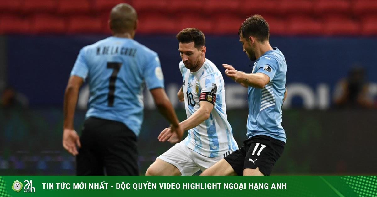 Video Argentina - Uruguay: Dồn ép nghẹt thở, khác biệt...