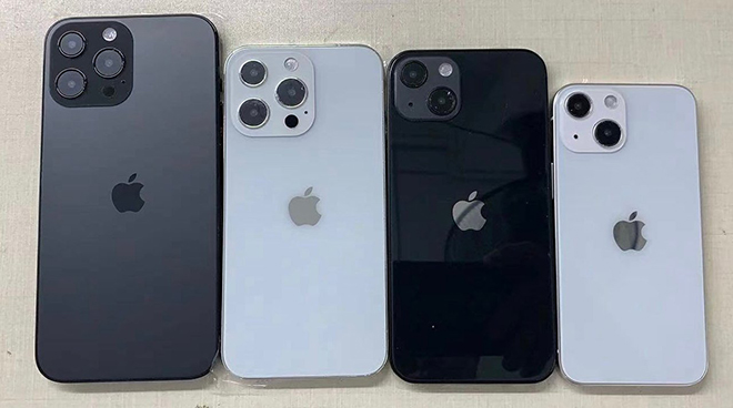"""Phát """"sốt"""" với mô hình bộ tứ iPhone 13, chân thực từng chi tiết - 1"""