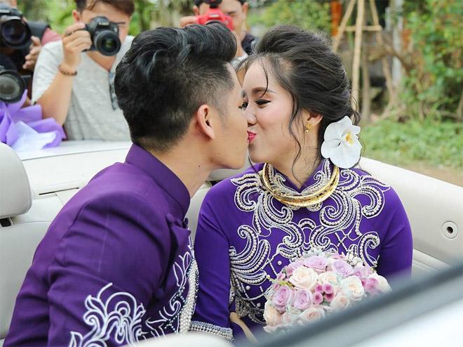 Lê Phương thẹn thùng được chồng trẻ hôn tại lễ cưới - hình ảnh 11