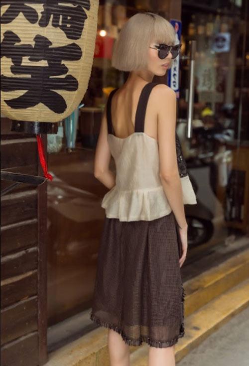 """""""Nàng thơ hao gầy"""" khoe dáng mong manh trên phố Nhật giữa Sài Gòn - hình ảnh 10"""