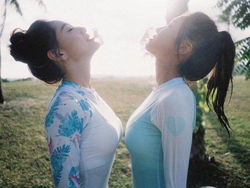 Diện áo tắm thể thao, 2 kiều nữ Hàn Quốc đẹp không cần cố gắng - hình ảnh 7