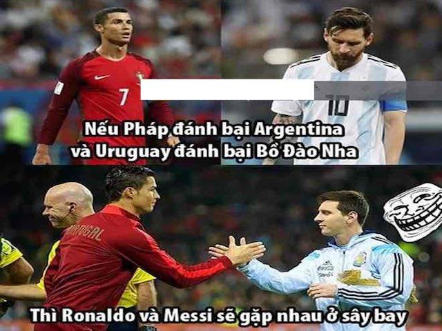 Cảm xúc đối lập của dân mạng khi Messi và Ronaldo chia tay World Cup 2018